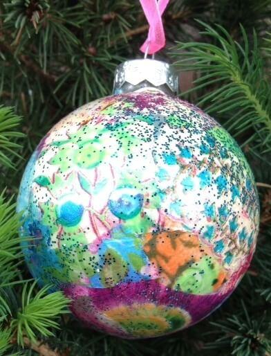 Workshops kerstballen pimpen 1 kerstbal